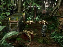 In game image of Dino Crisis 2 on the Sony Playstation.