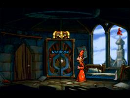 In game image of Discworld on the Sony Playstation.