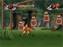 In game image of Disney's Hercules on the Sony Playstation.