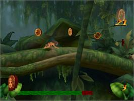 In game image of Disney's Tarzan on the Sony Playstation.