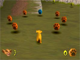 In game image of Disney's the Lion King: Simba's Mighty Adventure on the Sony Playstation.