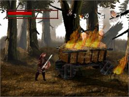 In game image of DragonHeart: Fire & Steel on the Sony Playstation.