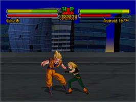 In game image of Dragon Ball Z: Ultimate Battle 22 on the Sony Playstation.