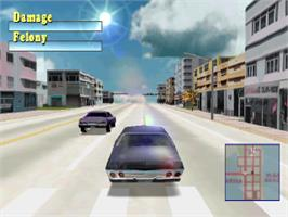 In game image of Driver on the Sony Playstation.
