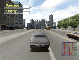 In game image of Driver 2 on the Sony Playstation.