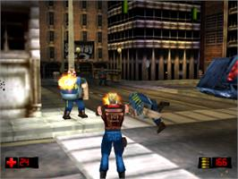 In game image of Duke Nukem: Time to Kill on the Sony Playstation.