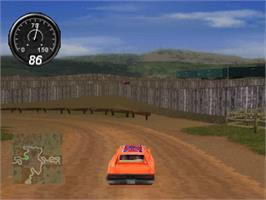 In game image of Dukes of Hazzard II: Daisy Dukes It Out on the Sony Playstation.