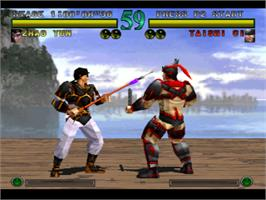 In game image of Dynasty Warriors on the Sony Playstation.