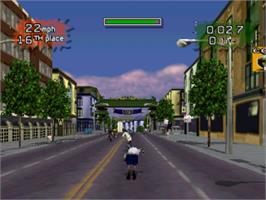 In game image of ESPN Extreme Games on the Sony Playstation.