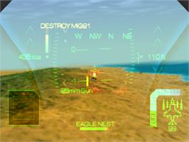In game image of Eagle One: Harrier Attack on the Sony Playstation.