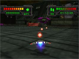 In game image of Eliminator on the Sony Playstation.