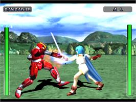 In game image of Evil Zone on the Sony Playstation.