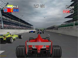 In game image of F1 2000 on the Sony Playstation.