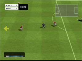 In game image of FIFA Soccer 2003 on the Sony Playstation.