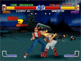 In game image of Fatal Fury: Wild Ambition on the Sony Playstation.