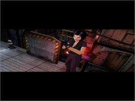 In game image of Fear Effect on the Sony Playstation.