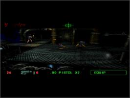 In game image of Fear Effect 2: Retro Helix on the Sony Playstation.