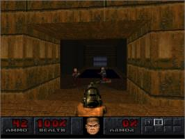 In game image of Final DOOM on the Sony Playstation.