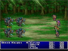 In game image of Final Fantasy II on the Sony Playstation.