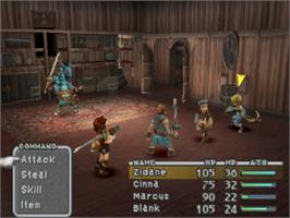 In game image of Final Fantasy IX on the Sony Playstation.