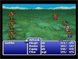 In game image of Final Fantasy Origins on the Sony Playstation.
