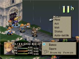 In game image of Final Fantasy Tactics on the Sony Playstation.
