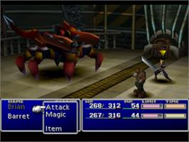 In game image of Final Fantasy VII on the Sony Playstation.