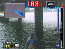 In game image of Fisherman's Bait: A Bass Challenge on the Sony Playstation.