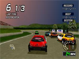 In game image of Ford Racing on the Sony Playstation.