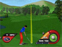 In game image of Fox Sports Golf '99 on the Sony Playstation.