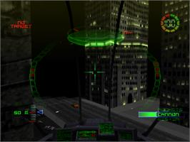 In game image of G-Police: Weapons of Justice on the Sony Playstation.