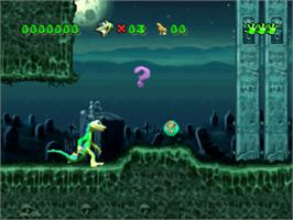 In game image of Gex on the Sony Playstation.
