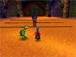 In game image of Gex 3: Deep Cover Gecko on the Sony Playstation.
