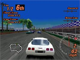In game image of Gran Turismo 2 on the Sony Playstation.