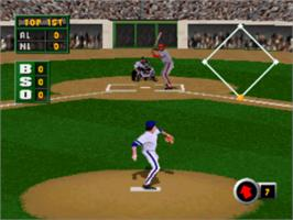 In game image of Grand Slam on the Sony Playstation.