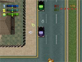 In game image of Grand Theft Auto 2 on the Sony Playstation.