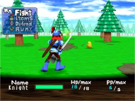 In game image of Guardian's Crusade on the Sony Playstation.