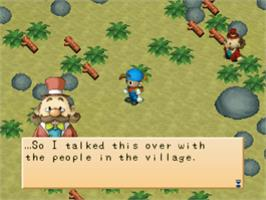 In game image of Harvest Moon: Back to Nature on the Sony Playstation.