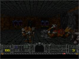 In game image of Hexen: Beyond Heretic on the Sony Playstation.