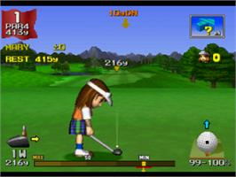In game image of Hot Shots Golf on the Sony Playstation.