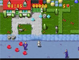 In game image of Inspector Gadget: Gadget's Crazy Maze on the Sony Playstation.