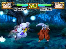 In game image of InuYasha: A Feudal Fairy Tale on the Sony Playstation.