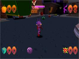 In game image of Jersey Devil on the Sony Playstation.