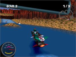 In game image of Jet Moto 2 on the Sony Playstation.