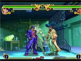 In game image of JoJo's Bizarre Adventure on the Sony Playstation.