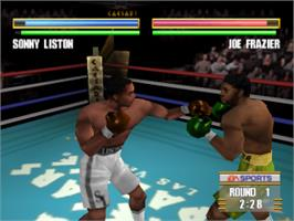 In game image of Knockout Kings 2000 on the Sony Playstation.