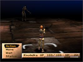 In game image of Koudelka on the Sony Playstation.