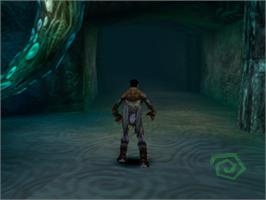 In game image of Legacy of Kain: Soul Reaver on the Sony Playstation.