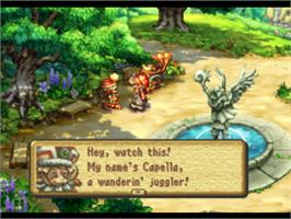 In game image of Legend of Mana on the Sony Playstation.