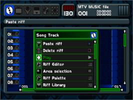 In game image of MTV: Music Generator on the Sony Playstation.
